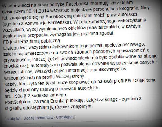 facebook zmiana regulaminu