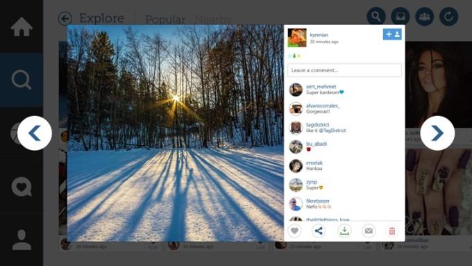 Oglądaj posty w sposób intuicyjny. Zmieniaj zdjęcia bez konieczności klikania w każe z nich osobno. fot. apps.microsoft.com