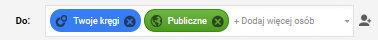 Twoje kręgi, publiczne Google plus