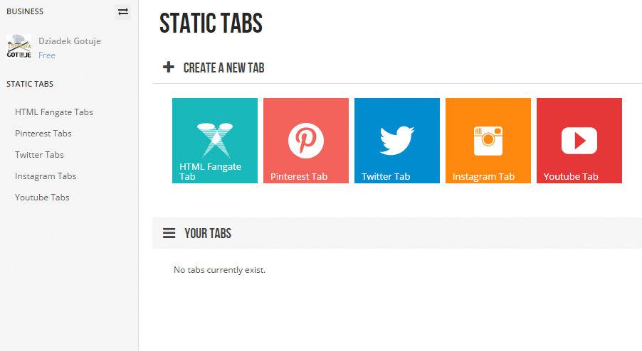 woobox static tabs